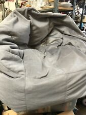 Big Joe Bean Bag Dorm Chair Grey Suede Super Comfort Relaxation Easy convenient