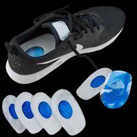 Unisex Stop Heel Pain Cushion Support Pad Gel Plantar Fasciitis Heel for Shoes