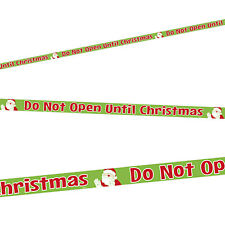 50ft Do Not Open Until Christmas Plastic Caution Tape Streamer Party Decoration