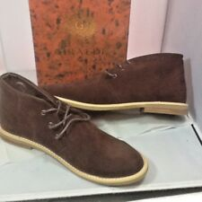 Giraldi Men's Chukka Ankle Boots Brown Suede Tie Up Casual  Size US 11 New