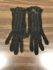 Womens Black Gloves Baumwolle Great Condition