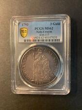 Netherlands Utrecht silver 3 gulden 1793 toned uncirculated PCGS MS62