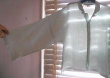 Planet by Lauren Grossman ~ Art to Wear ~ Mint Linen Boxy Signature Shirt OSFA