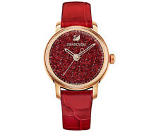 Swarovski 5295380 Crystalline Hours Red Watch Swiss Made