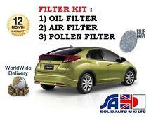 PARA Honda Civic 1.4 VTEC fk17 l13z4 2012> NUEVO Filtro De Polen Aire Aceite
