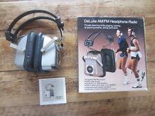 deluxe am/fm headphone radio retro vintage  weltron design audiorama