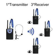 2.4G Digital Wireless Tour Guide System(1 transmitter and 3 receivers)