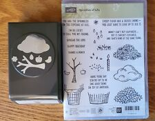 Stampin Up! SPRINKLES OF LIFE & TREE BUILDER PUNCH Cloud Ice Cream cone Retired
