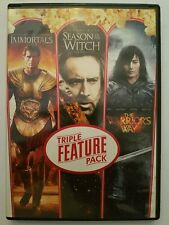IMMORTALS/SEASON OF THE WITCH/WARRIORS WAY)DVD MOVIES SET 3 DISC TRIPLE FEATURE