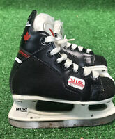 Vic Wind Junior Ice Hockey Skates Size 9 Fast Free Ship Modified With Toe Pick