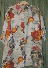 Shirt Blouse Top Size 14 pink white grey orange 100 % viscose