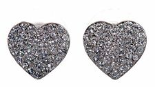 Swarovski Elements Crystal Heart Alana Pierced Earrings Rhodium Plated 7270x