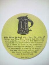 Vintage WHITBREAD  TANKARD - Cat No?? Beermat / Coaster - Silver Tankard No'3