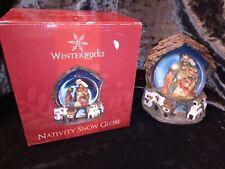 Winter works Nativity Snow Globe with box