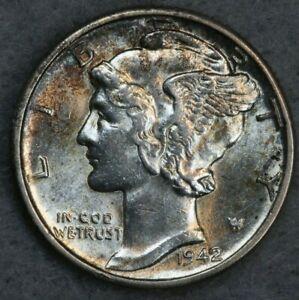 1942-D 10C Mercury Silver Dime Album Set Break High Grade Collection BU UNC FB