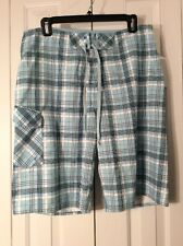 Quicksilver Board Men's  Shorts Pants Plaid Blue Black Size 32