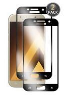 Samsung A3 2017 (A320) Pack de 2 Films protection écran en verre trempé (Noir)
