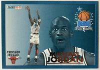 1992-93 FLEER MICHAEL JORDAN #6 NBA CARD NM-MT. LAST DANCE CHICAGO BULLS