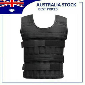 35KG Adjustable Workout Weight Weighted Vest Exercise Gym Training Fitness AU