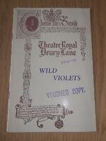 """THEATRE ROYAL DRURY LANE """" WILD VIOLETS """" 1933 PROGRAMME EXCELLENT RARE"""