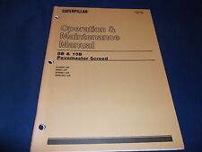 CAT CATERPILLAR 8B 10B PAVEMASTER SCREED OPERATION & MAINTENANCE MANUAL 3LM 3RM