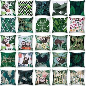 """18"""" Africa Tropical Plant Cushion Cover Pillow Case Polyester Home Throw Decor"""