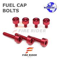 FRW Red Fuel Cap Bolts Set For Honda VFR800 VTEC 02-09 02 03 04 05 06 07 08