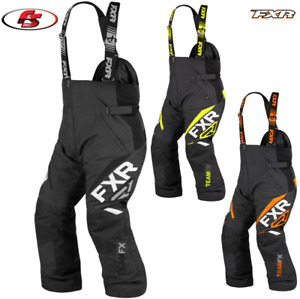 New 2021 FXR Mens Team FX Snowmobile Pants Bibs Black LG XL 2XL 3X 4XL