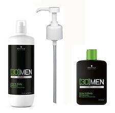 [3D] MENSION Hair & Body Shampoo 1250ml + Dosierpumpe Schwarzkopf NEU!