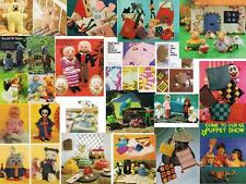 100's OF TOYS, DOLL CLOTHES & KNITTING PATTERN GIFT IDEAS ON CD DISK Buy2 get3