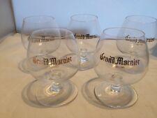 5 Vintage Grand Marnier Liquor Glasses Miniature Balloon Shape