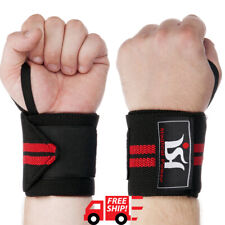 Power weight lifting training wrist wraps gym workout straps supports exercise