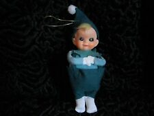 Vintage 1950 Christmas Tree Elf Decoration 1 of 2 Japan Toy Plastic Rubber