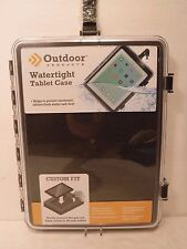 Outdoor Products Watertight Tablet Case Custom Fit Foam Padding Latch Closure