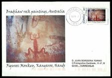 Spain Bradshaw rock painting Prehistoric Custom Stamp-only 5 cover made! cm49