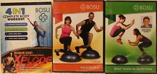 3 New Bosu workout exercise Dvd lot 4 in 1 complete body crush it double up down