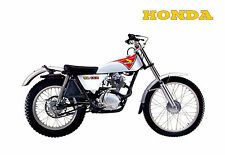 HONDA Poster Classic TL125 1974 1975 1976 Classic Trials Suitable to Frame
