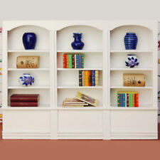 1/12 Bookcase Dollhouse Miniature Furniture Library Display Bookshelf Cabinet