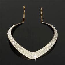 Moda de Joyería Cadena Colgante Cristal Gargantilla Gruesa declaración babero Collar