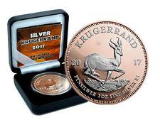 1 oz Silber Krügerrand 2017 1 Rand Südafrika rosegold gilded reverse in Box