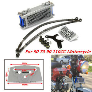 Motorcycle Engine Oil Cooling Radiator Fit for 50 70 90 110CC Horizontal Engines