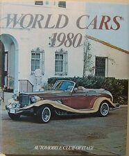World Cars 1980 annual reference book on motor industry, manufacturers & models