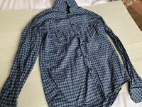 Zara Man Shirt Slim Fit Button Down Long Sleeve Men's Size Large  Good Pre-owned
