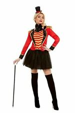 Deluxe Ringmaster Lady Costume, Women, Red, M - UK Size 12-14