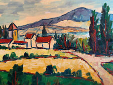 """Tuscan Landscape  Hand Painted 8""""x10"""" Oil Painting Unstretched Canvas Art"""