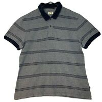 JAG Grey with Blue Stripped Polo Shirt Large