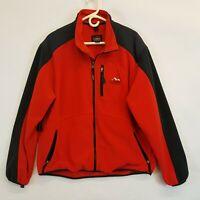 Vtg LL Bean USA Made Mens XL All Conditions Full Zip Red Polartec Fleece Jacket