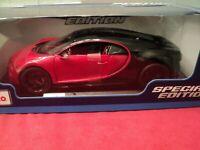 Maisto Bugatti Chiron Sport  1/18 scale  NIB 2020  release red/black exterior