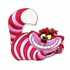 Pink Stripy Cat (Iron on) Embroidery Applique Patch Sew Iron Badge