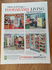 1959 Kelvinator Refrigerator Ad This is Living Fabulous Foodarama